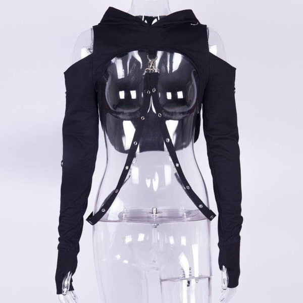 Beast Mode off shoulder Hoodie