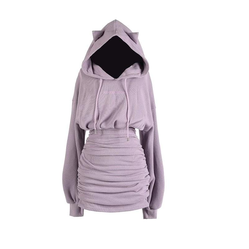 Kawaii Slim Dress Hoodie