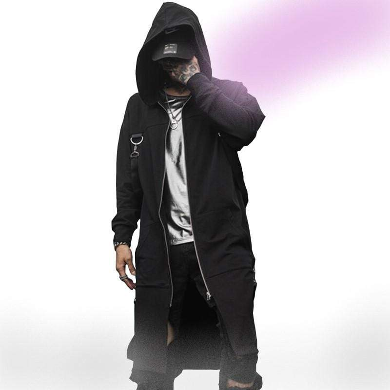 Blackout Streetwear Trench Coat