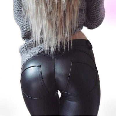 Booty PushUp Leggings (Faux Leather)
