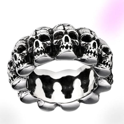 Cemetery Steel Skull Soldier Ring