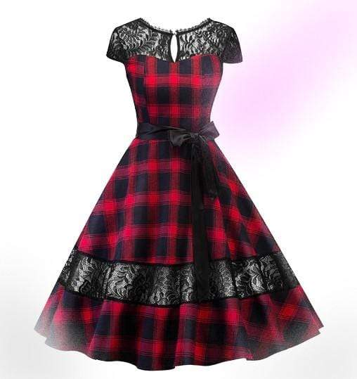 Classic Plaid Vintage Dress