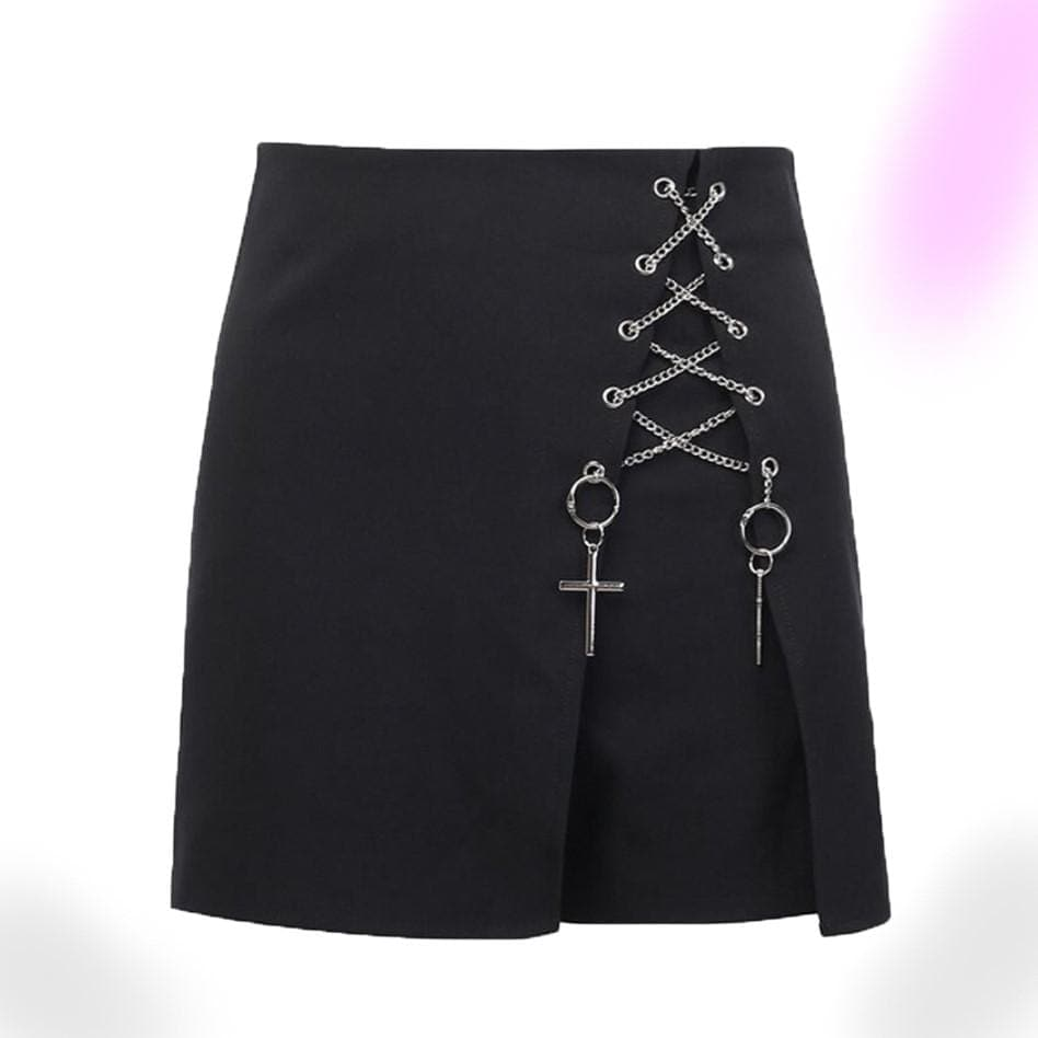 Cross High Waist Casual Shorts