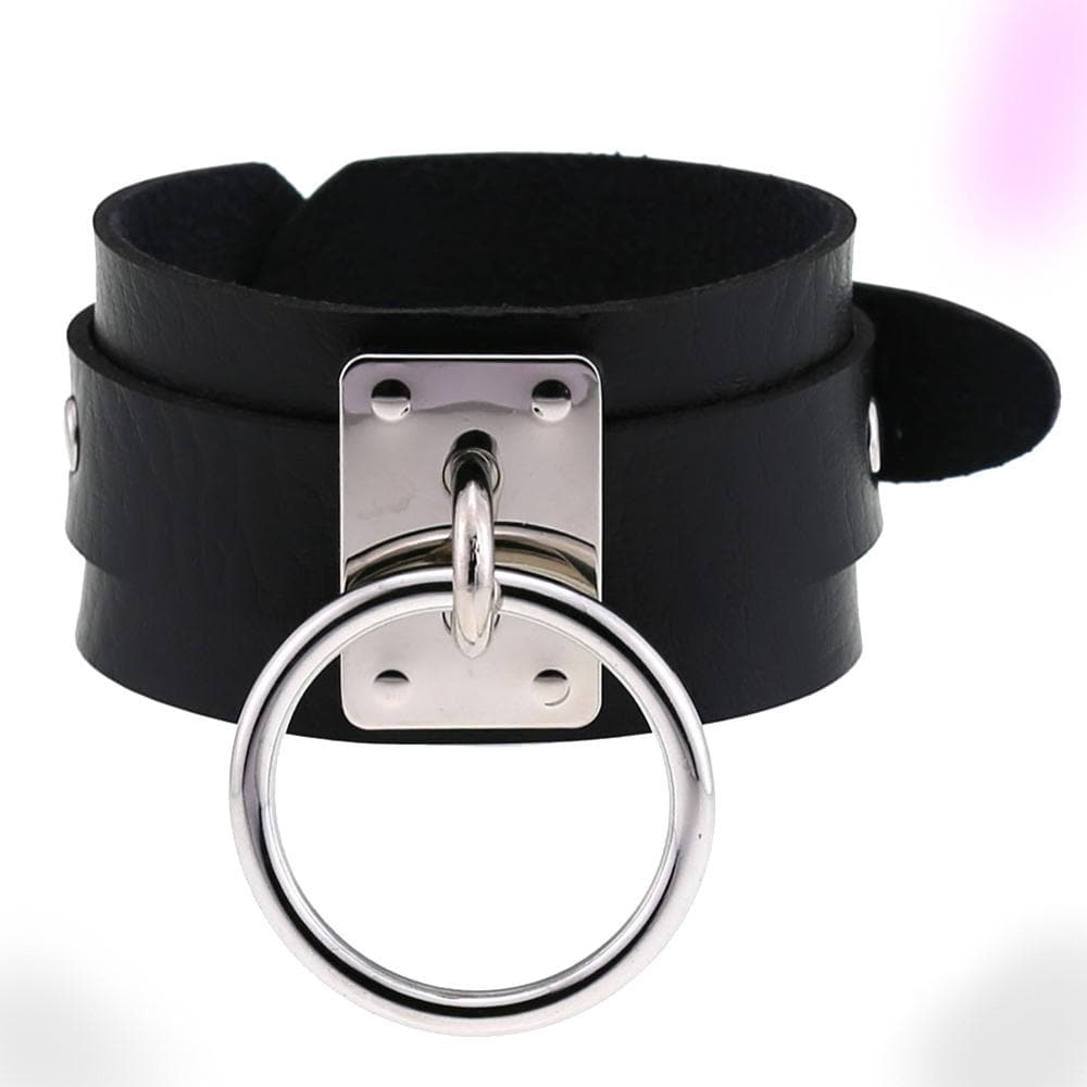 Gothic Punk Leather Bracelet