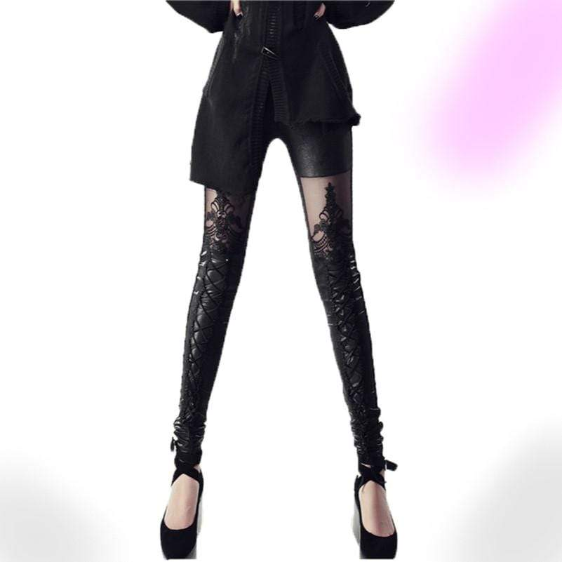 Gothic Victorian Lace Leggings