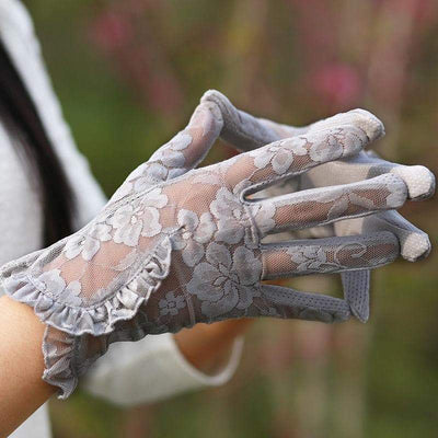 Lotus Steampunk Gloves