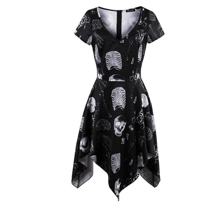 Skeleton Bone Printed Dress
