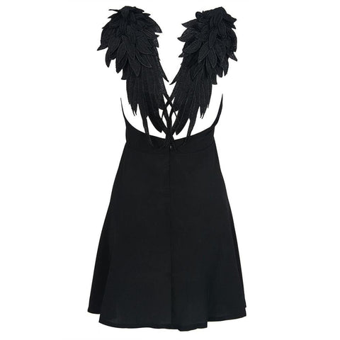Drive You Wild Angel Mini Gothic Dress