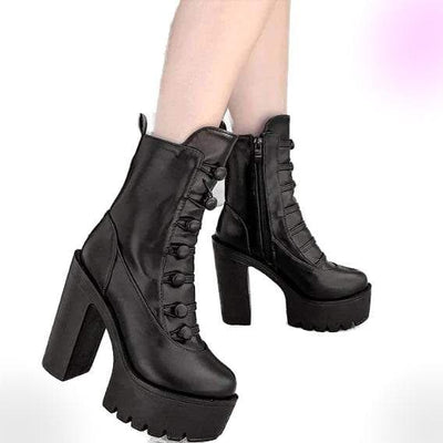 Hateful Prayers Platform Boots