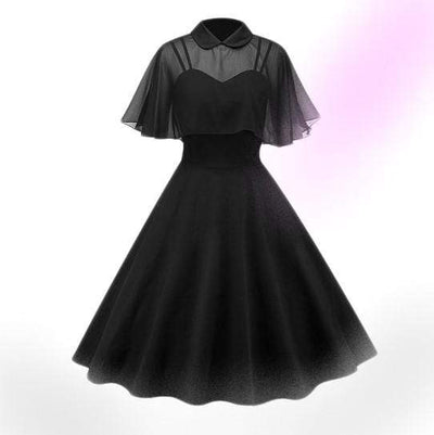 In The Dark Vintage Cape Dress