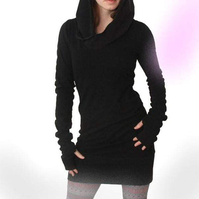 Inquisition Long Sleeve Loose Hooded Dress