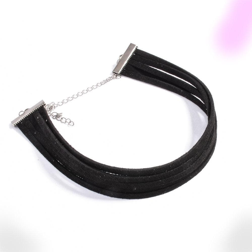 Masochism Black Velvet Choker Necklace