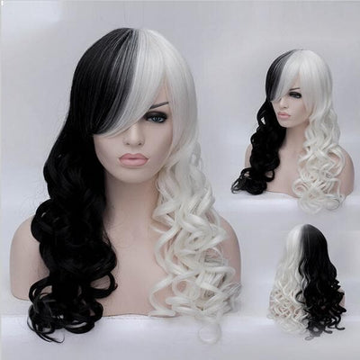 Cosplay Wig Black & White Synthetic Wig (Inspired by Cruella Deville)