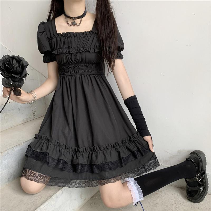 Ruffles Dark Gothic  Dress