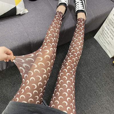 Moon Prints Silk Leggings