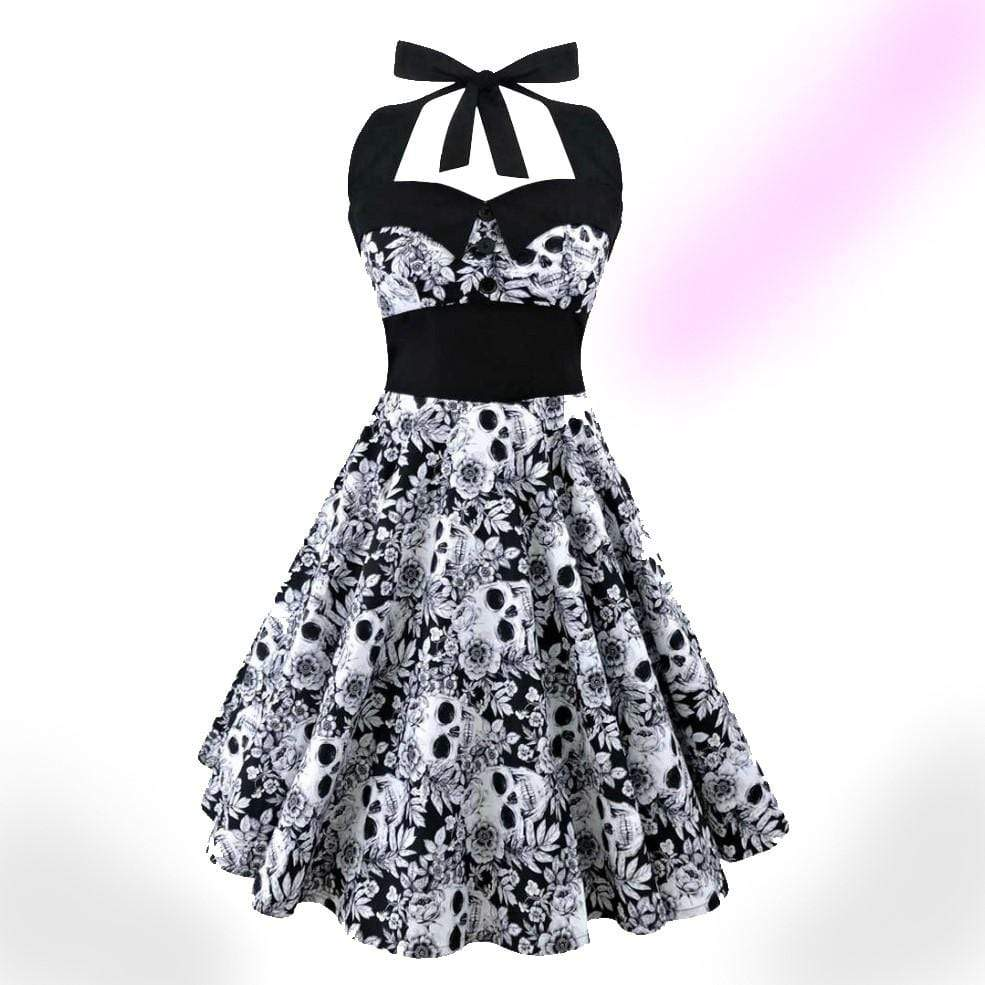 Retro Skull Party Dress