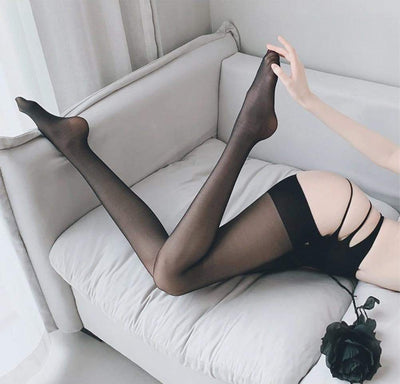 Erotic Babe Open Tights