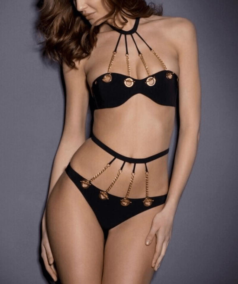 Gothic Chain High Waist Swimsuit