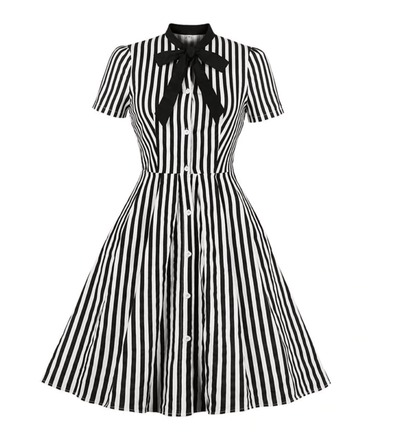 Asher Vintage Stripe Dress