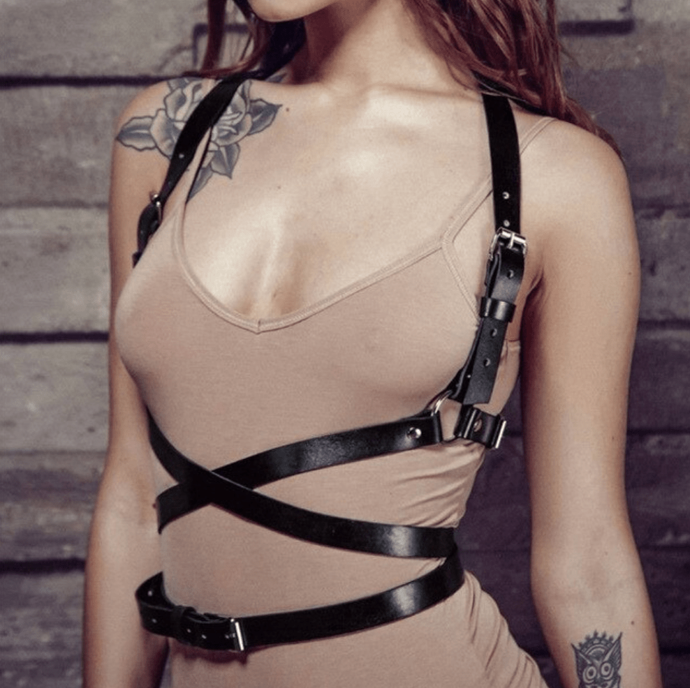 Goth Body Bondage Harness