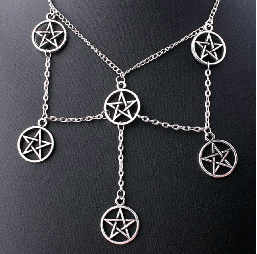 Religious Pentagram Necklace