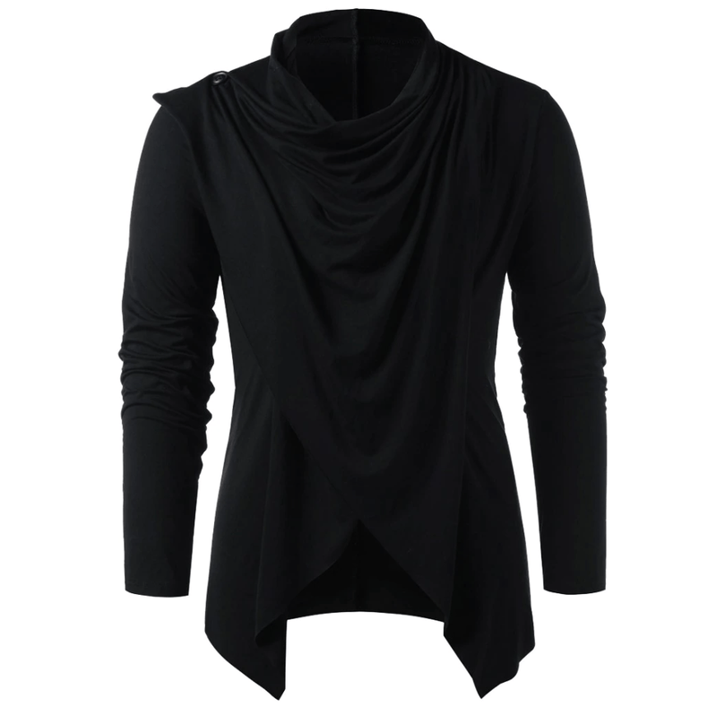 Gothic Long Sleeve Irregular Shirt