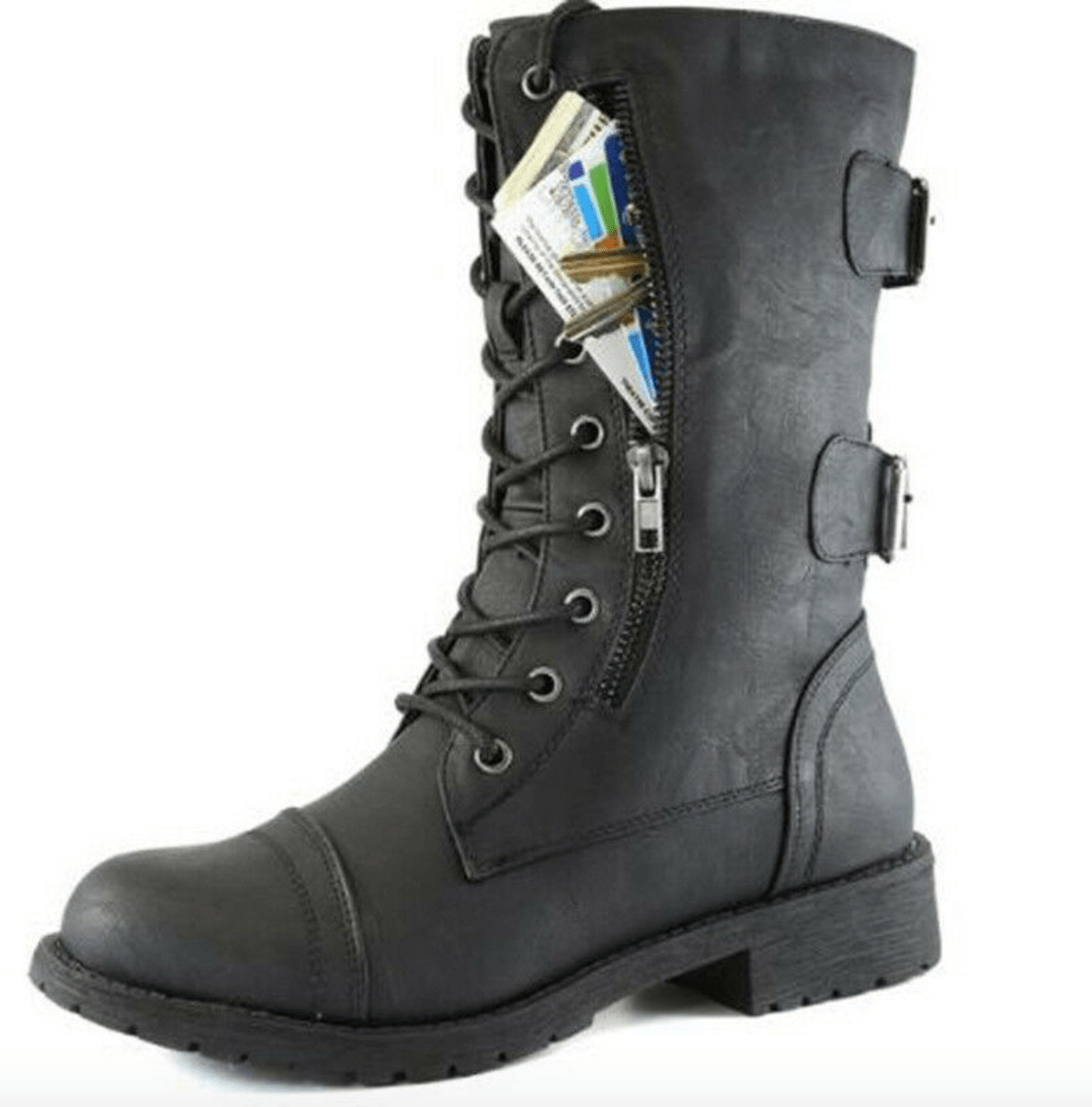 Asmodeus Leather Martin Biker Boots