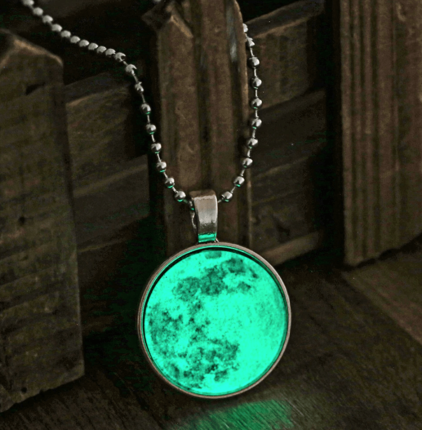 Vintage Moon Glow In The Dark Necklace