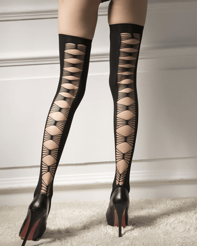 Back Cross Hollow Out Thigh High