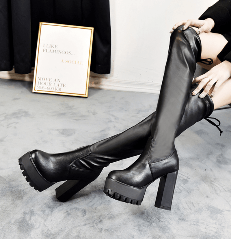 Ravana Over Knee Platform Boots