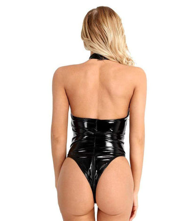 Disturbed Darlings Halter Bodysuit