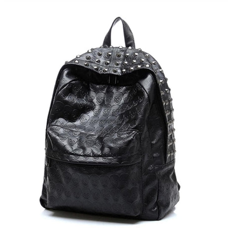 Skull Riveted Backpack