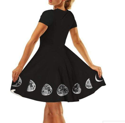 Gothic Witch Moon Dress