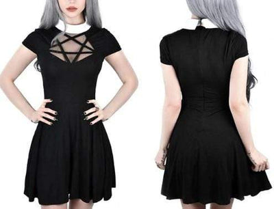 Perspective Gothic Mini Dress