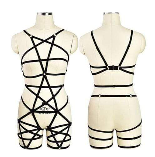 Gothic Rave Cage Harness