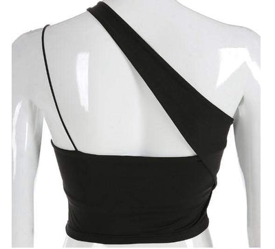 Gothic Asymmetric Crop Top