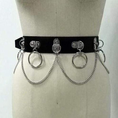 Hot Mess Gothic Bodychain Choker Harness Belt Set