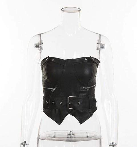 Ebony Gothic Crop Top