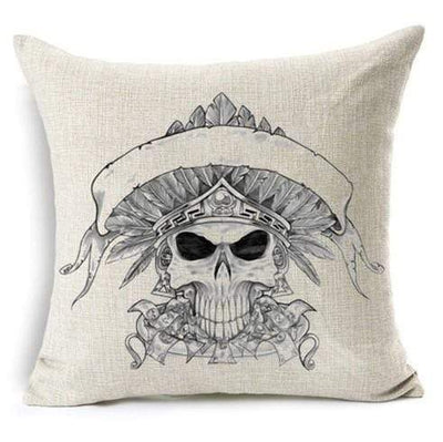 Gothic Cushion Cover Skull