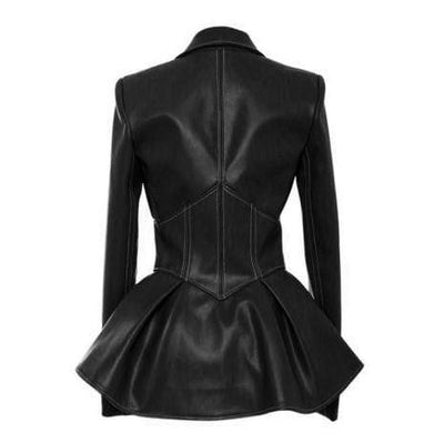 Agatha Gothic Faux Leather Jacket