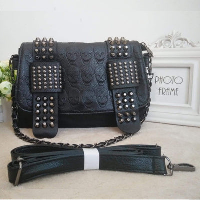 Punk Metal Skull Bag