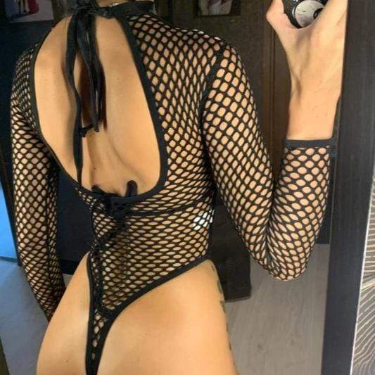 Dominatrix Fishnet Swimwear