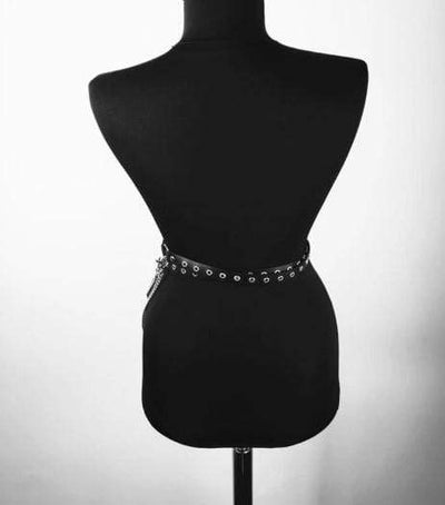 Gothic Leather Harness Waist Belts O Ring Metal