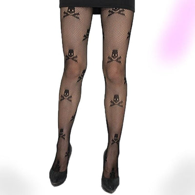 Stay Up Skull Tights