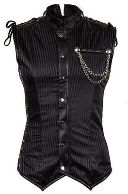 Striped Collar Steampunk Corset (Men)