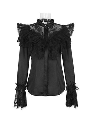 Gothic Treasure Lace Spliced Top