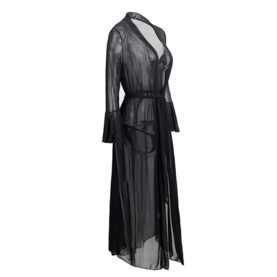Gothic Black Mesh Nightgowns