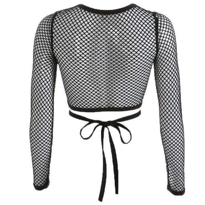 Ardat Lace Up Crop Top