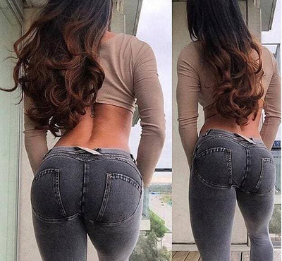 Jeans-Like Booty Push Up Leggings