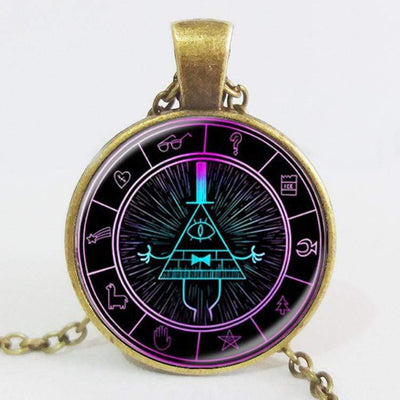 MYSTERY BILL CIPHER WHEEL Steampunk Pendant Gothic Necklace